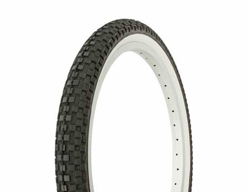 "Lowrider 20"" Black Rubber Duro White Wall DB-5026.  White Wall Tires 20"" x 1.95"""