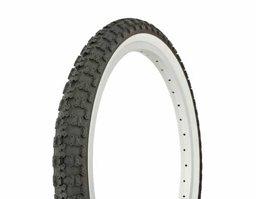 "Lowrider 20"" Black Rubber Duro White Wall HF-143G.  White Wall Tires 20"" x 2.125"""