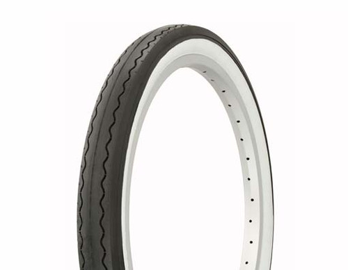 """Lowrider 20"""" Black Rubber Duro White Wall HF-841.  White Wall Tires 20"""" x 2.125"""""""