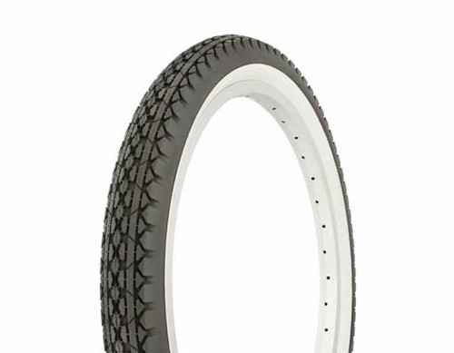 """Lowrider 20"""" Black Rubber Duro White Wall HF-133 White Wall Tires 20"""" x 2.125"""""""
