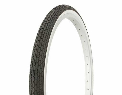 """Lowrider 24"""" Black Rubber Duro White Wall HF-120A.  White Wall Tires 24"""" x 1.75"""""""