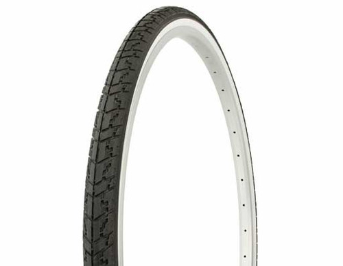 "Cruiser 26"" Black Rubber Duro White Wall HF-109.  White Wall Tires 26"" x 1 3/8"""