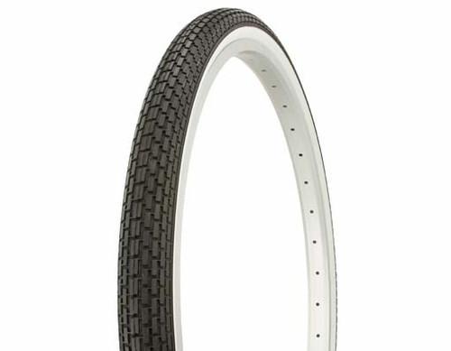 "Cruiser 26"" Black Rubber Duro White Wall HF-120A. White Wall Tires 26"" x 1.75"""