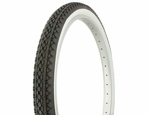 "Cruiser 26"" Black Rubber Duro White Wall HF-133.  White Wall Tires 26"" x 2.125"""