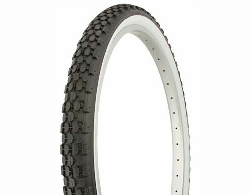 "Cruiser 26"" Black Rubber Duro White Wall HF-851. White Wall Tires 26"" x 2.125"""