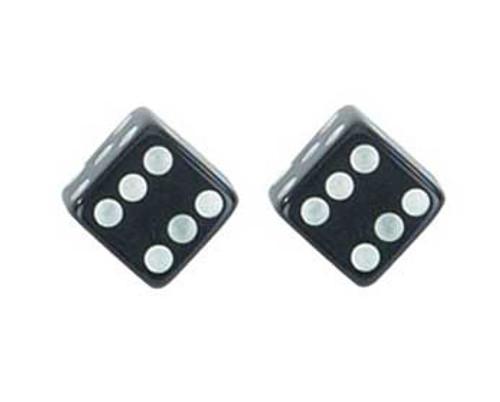 Lowrider Black Plastic Dice Valve Caps