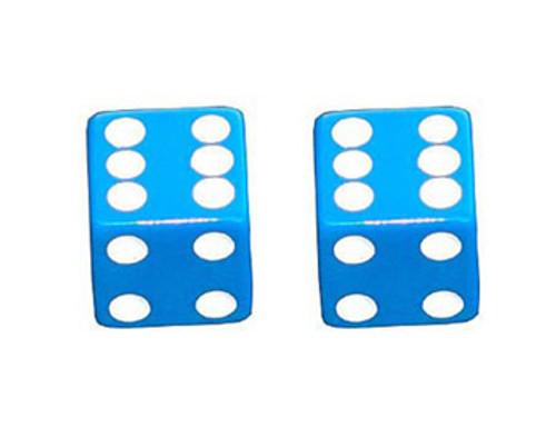 Lowrider Blue Plastic Dice Valve Caps