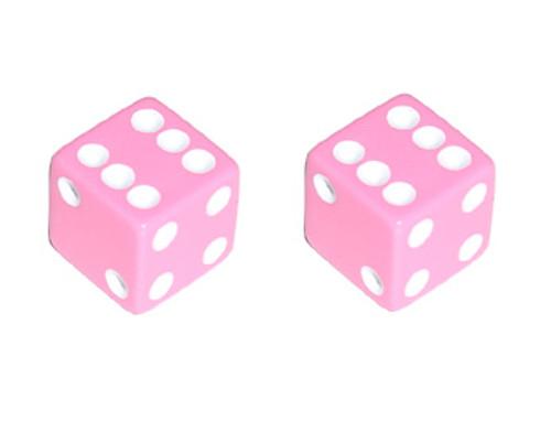 Lowrider Pink Plastic Dice Valve Caps