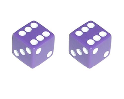 Lowrider Purple Plastic Dice Valve Caps