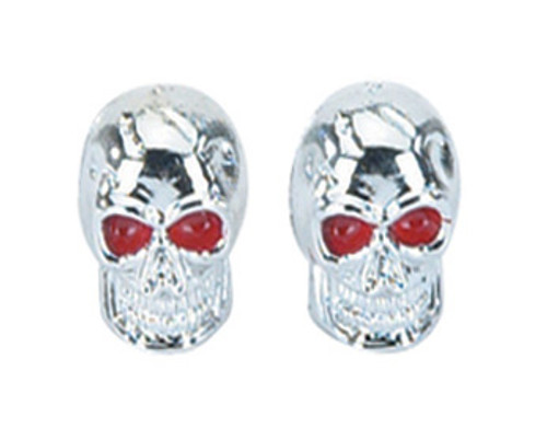 Chopper Chrome Plastic Skull Valve Caps