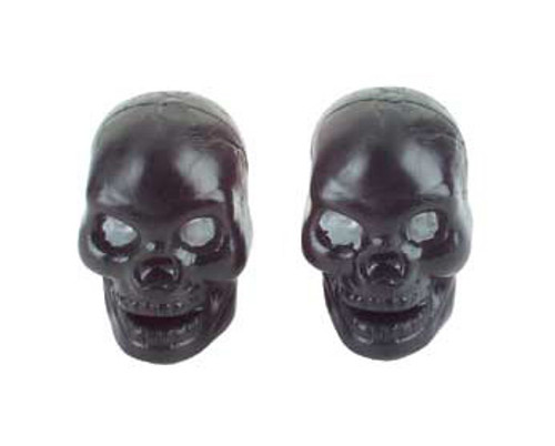 Chopper Black Plastic Skull Valve Caps