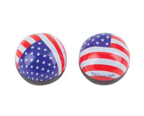 Chopper Mutli-Colored Plastic Round Us Flag Valve Caps