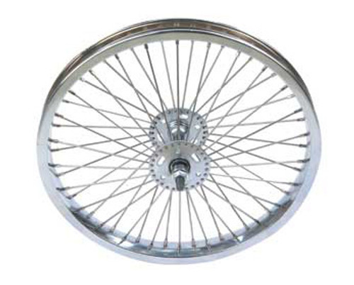 "Lowrider 16"" Chrome Steel 52 Spoke Coaster Wheels 16"" x 1.75"""