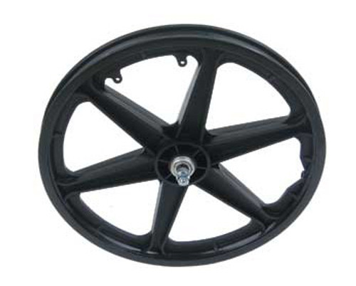 "BMX 20"" Black Plastic 6-Spoke Front Wheels 20"" x 1.75"""