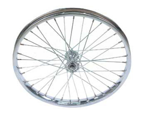 "Cruiser 20"" Chrome Steel Front Wheels 20"" x 2.125"""