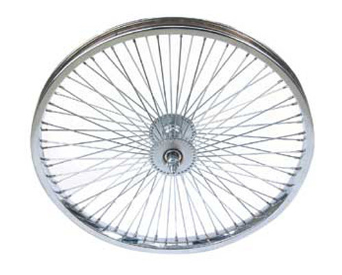 "Lowrider 20"" Chrome Steel 72 Spoke Front Wheels 20"" x 2.125"""