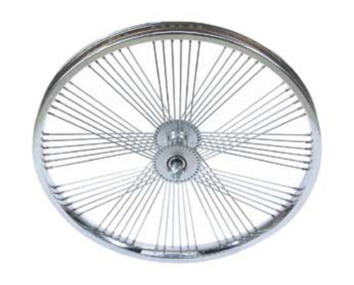 "Lowrider 20"" Chrome Steel Fan 72 Spoke Free Wheels 20"" x 2.125"""