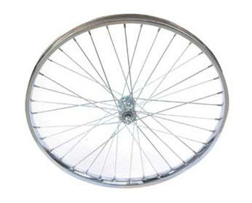 "Cruiser 24"" Chrome Steel Front Wheels 24"" x 2.125"""