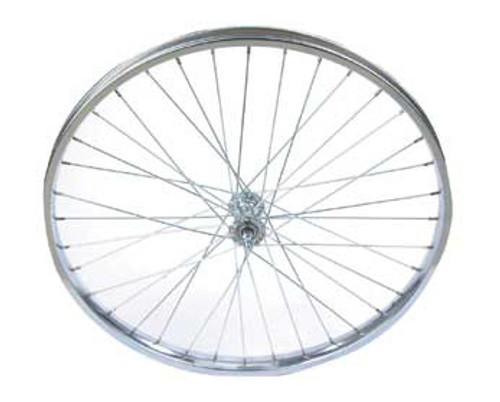 """Cruiser 26"""" Chrome Steel With Liner Coaster Wheels 26"""" x 2.125"""""""