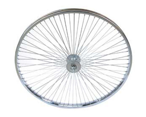 "Lowrider 26"" Chrome Steel 72 Spoke Coaster Wheels 26"" x 2.125"""