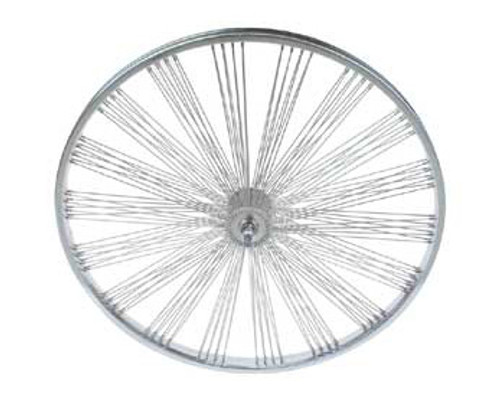 "Lowrider 26"" Chrome Steel Fan 144 Spoke Front  Wheels 26"" x 2.125"""