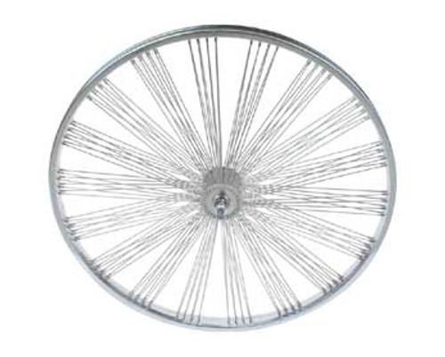 """Lowrider 26"""" Chrome Steel Fan 144 Spoke Front  Wheels 26"""" x 2.125"""""""