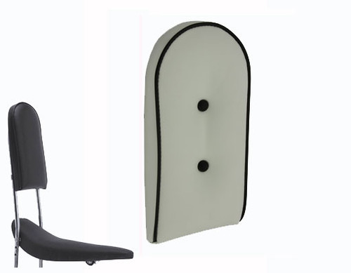 Lowrider White Vinyl Custom Back Cushion