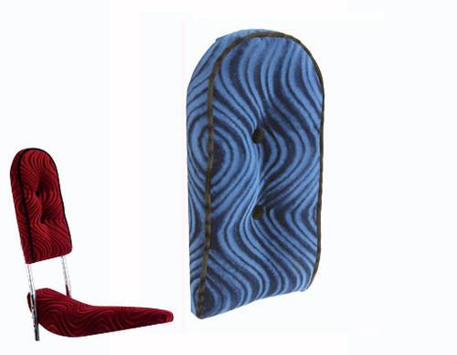 Lowrider Blue Velour Custom Back Cushion