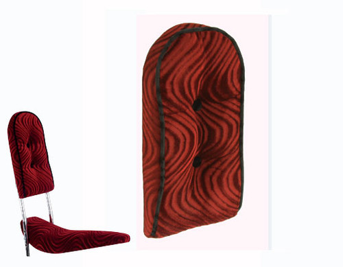 Lowrider Red Velour Custom Back Cushion