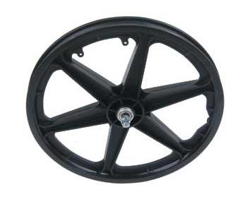 Black ops 20` Alloy BMX 20 inch Front Wheel white rim black hub 36 black spokes