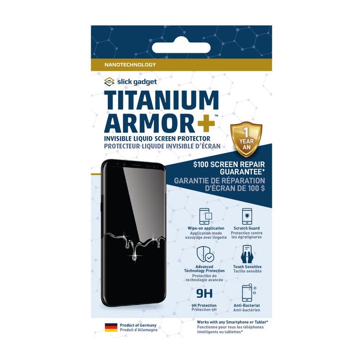 Slick Gadget Titanium Armor Plus Liquid Screen Protector with $100 screen replacement warranty - 15-03260