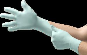 A+ Aloe Exam Gloves Beaded Green (N882-10)