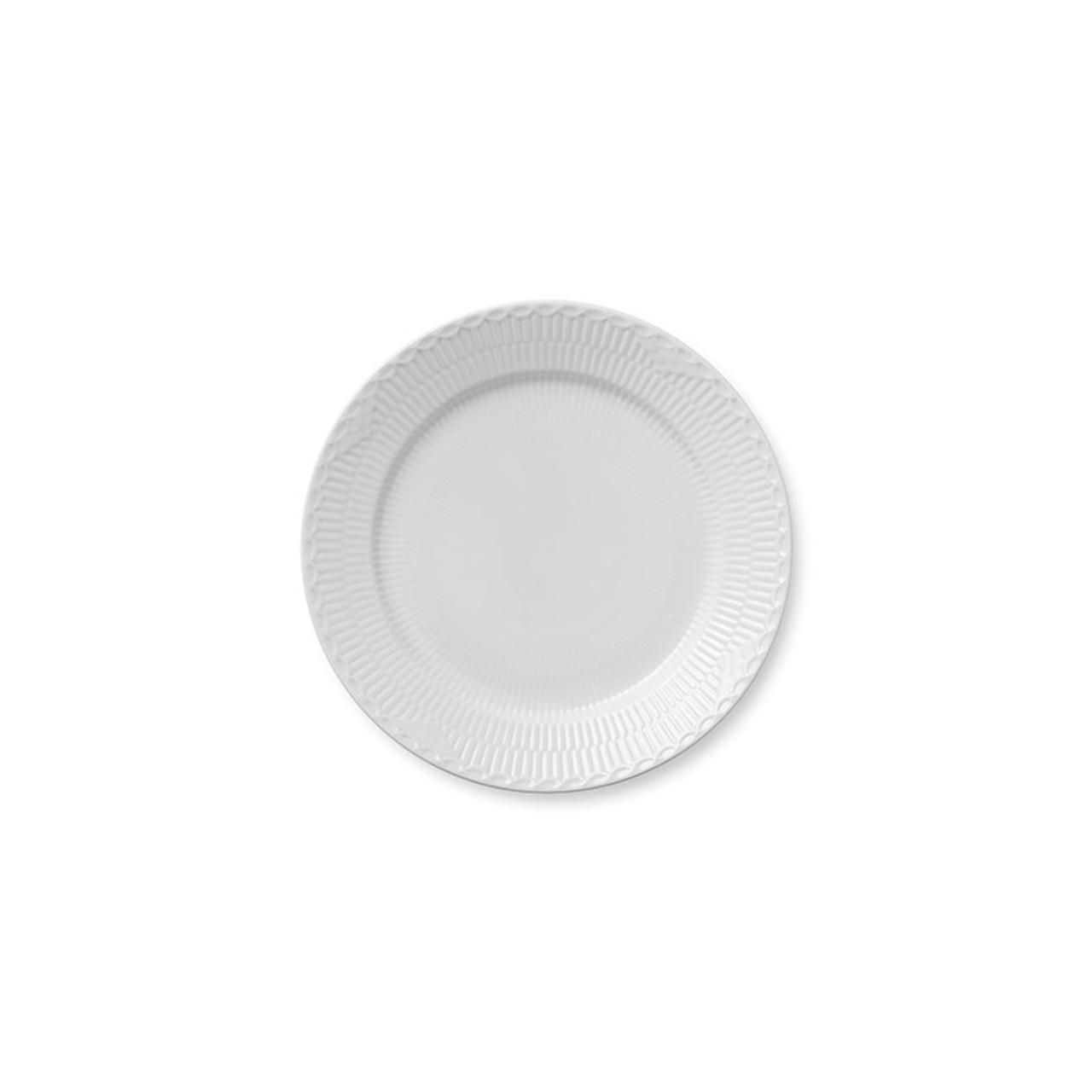 Royal Copenhagen White Fluted Half Lace Accent Dish