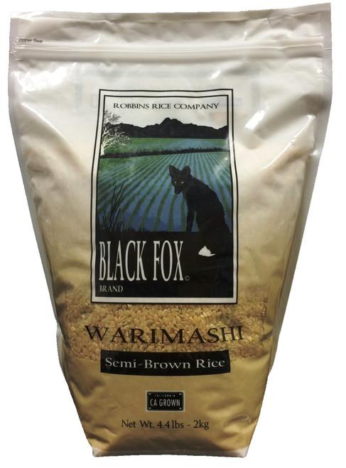 Black Fox Semi-brown Koshihikari Rice (4.4 lb bag)