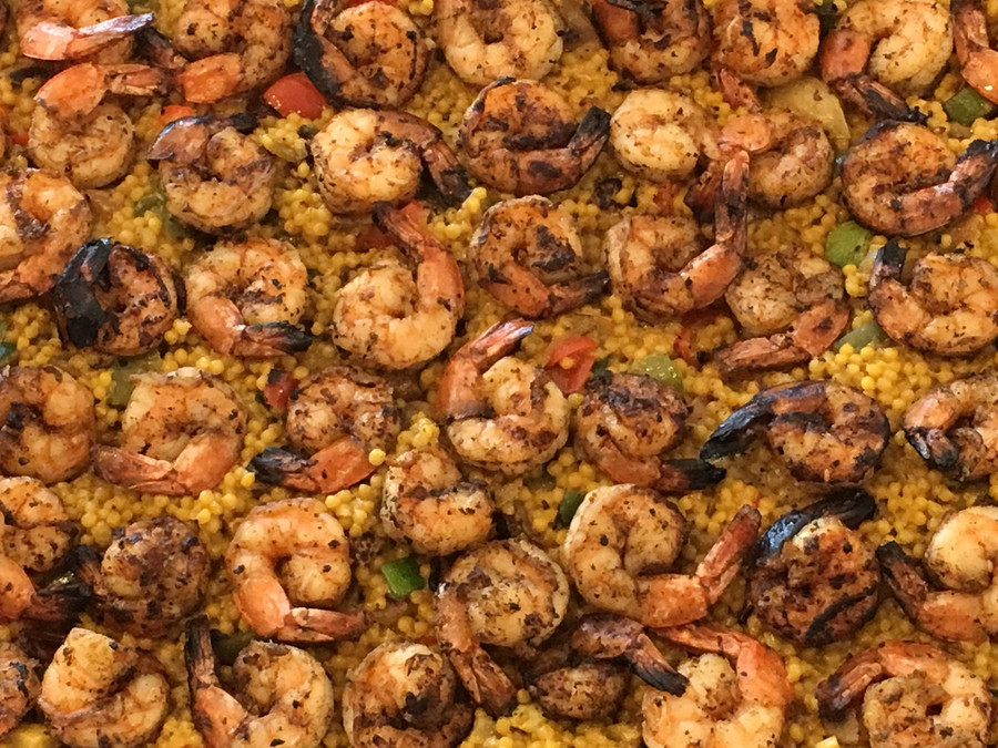 Grilled Shrimp and Vegetable Cous-Cous