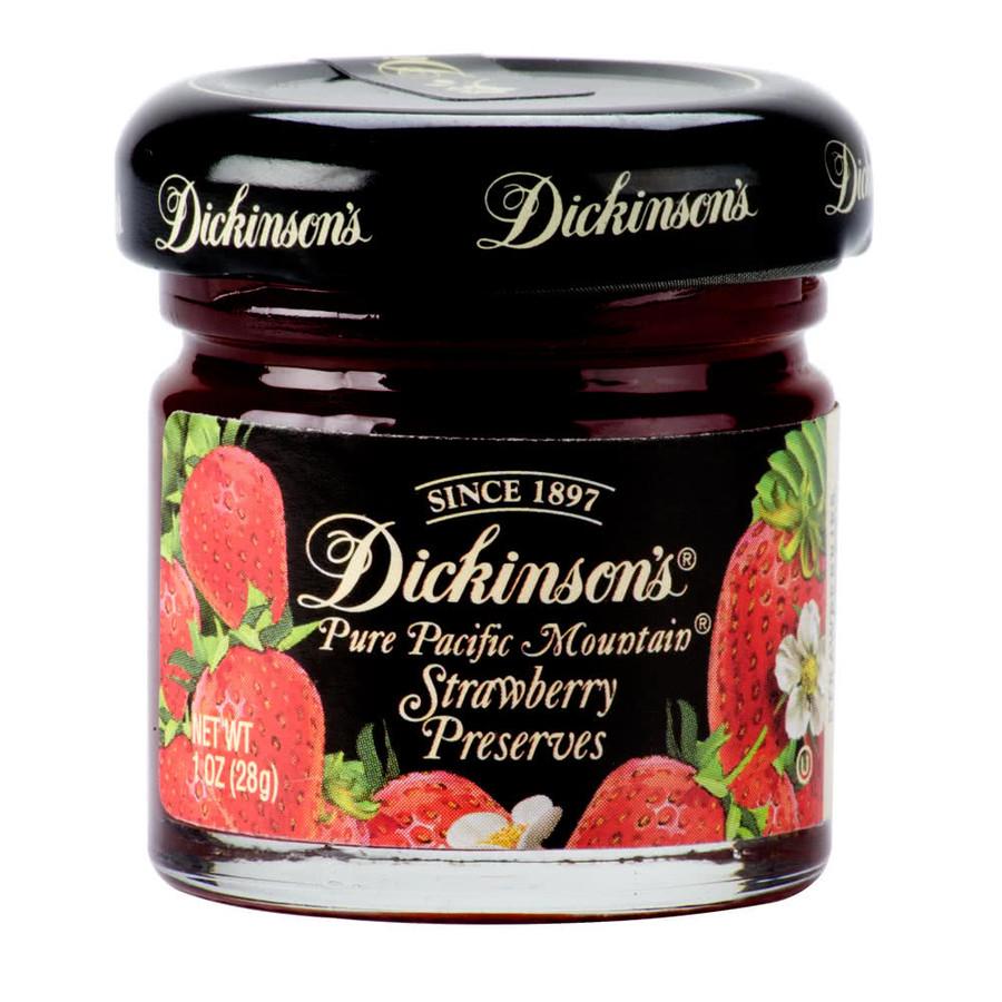 Dickinson's Jam, Marmalade and Preserves  - six (1 oz) jars