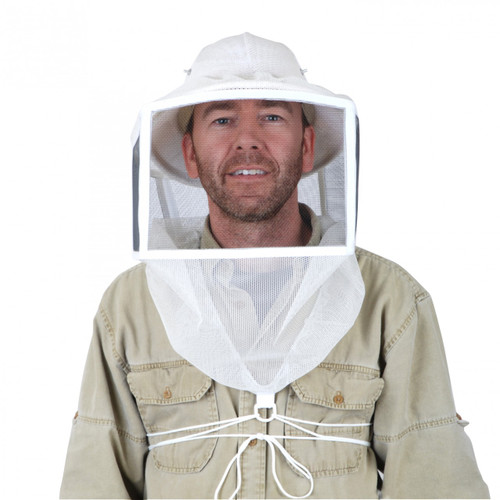 Square Veil with String Tie Down with Ventilated Helmet