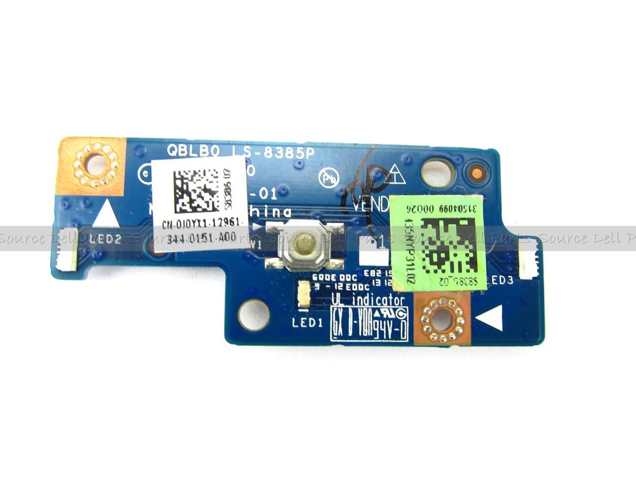 Alienware M14xR2 Laptop Power Button Switch Board - J0YX1