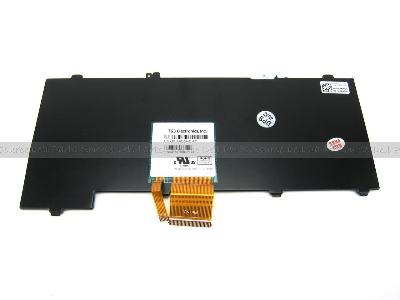 Dell Latitude XT2 XFR Rubberized Backlit Laptop Keyboard - 84F50