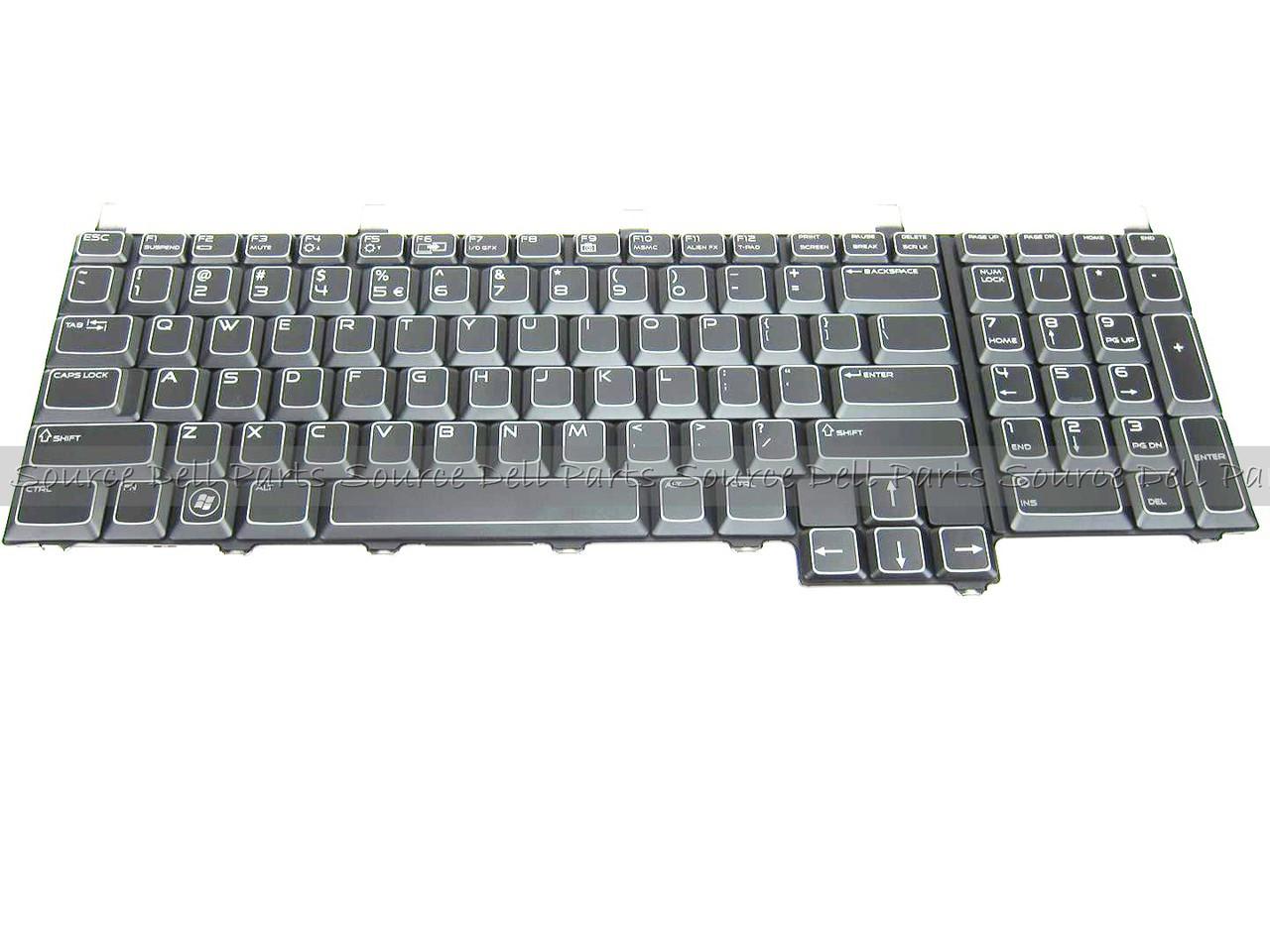Alienware M17xR2 Backlit US Laptop Keyboard  - 8WK6F