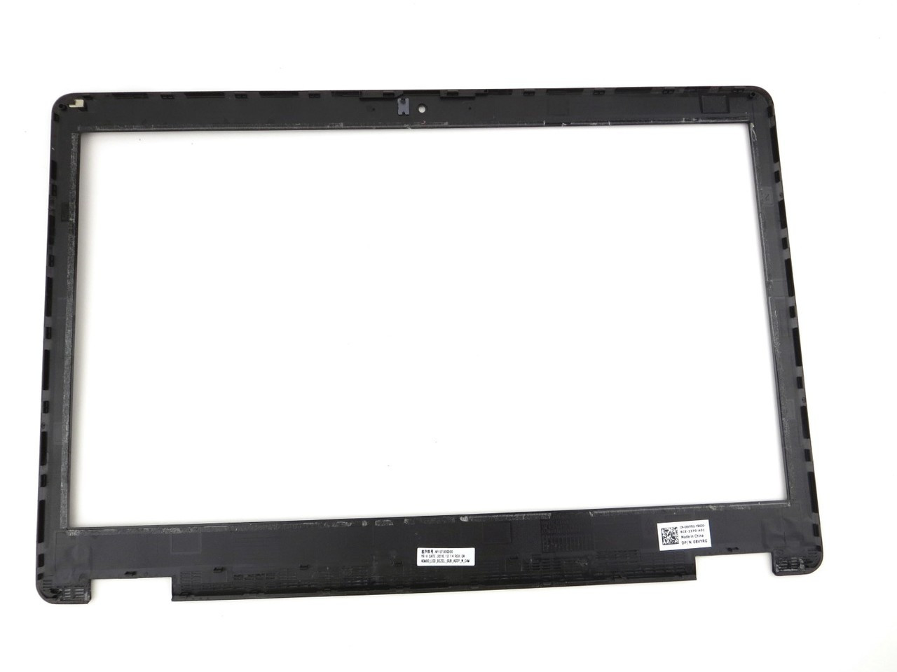 Dell Latitude E5570 / Precision 15 3510 LCD Front Trim Cover Bezel Plastic - With Camera Port - Non Touchscreen - 8VYRG 08VYRG