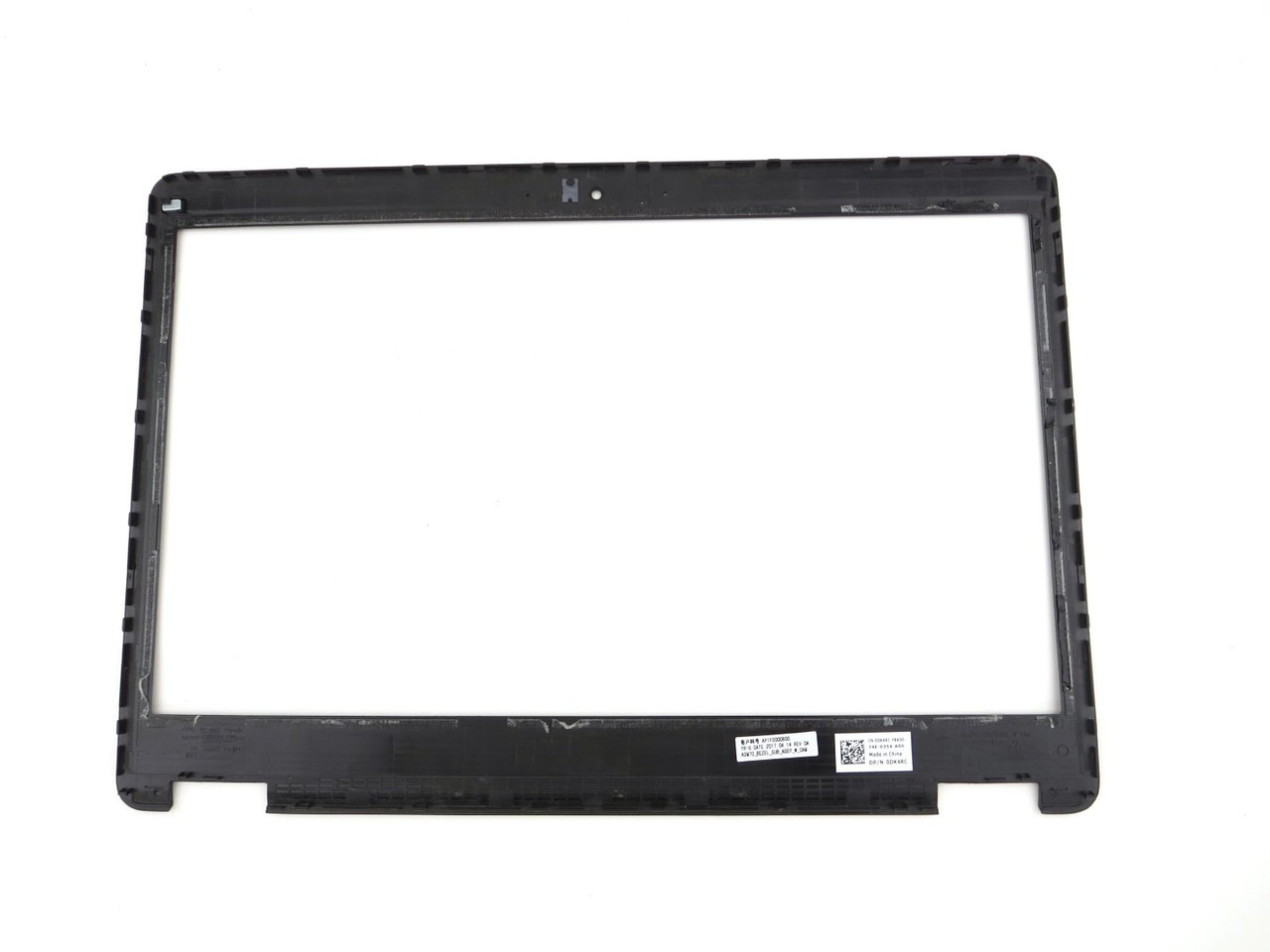 "Dell Latitude E5470 14"" LCD Front Trim Cover Bezel Plastic - With Camera Port - Non Touchscreen - DK4RC 0DK4RC"
