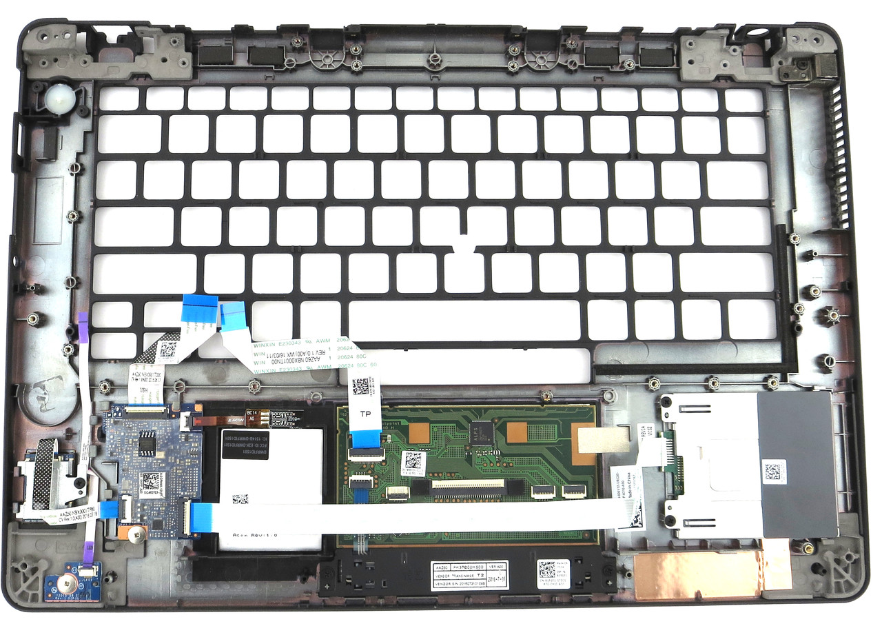 09Y17 Dell Latitude E7470 Palmrest Touchpad with Fingerprint /& Card Reader