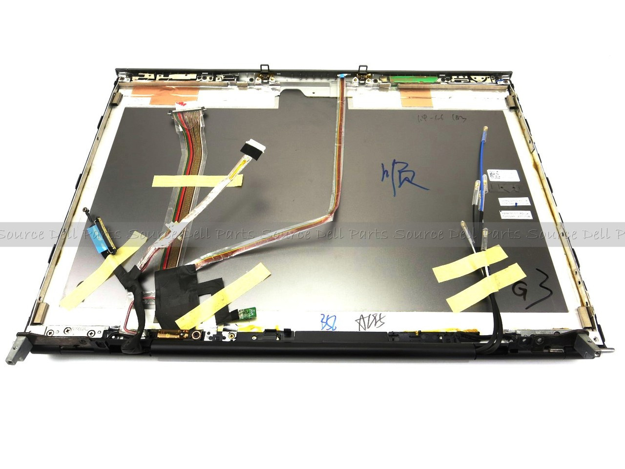 Dell Precision M6500 LCD Back Cover Lid Assembly with Hinges - 42R7J