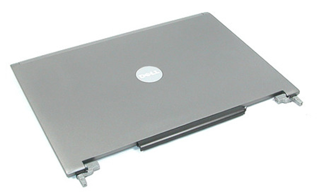"""NEW Dell 15.4/"""" Latitude D820 D830 LCD Back Gray Cover Lid w// Hinges YD874"""