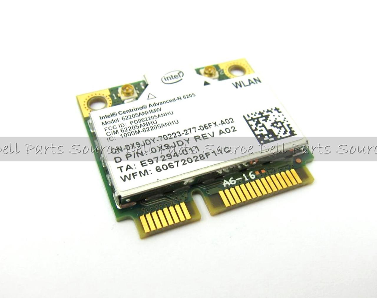 Dell Intel Centrino Advanced-N 6205 Wireless WiFi 802.11 a/b/g/n Half-Height Card - X9JDY