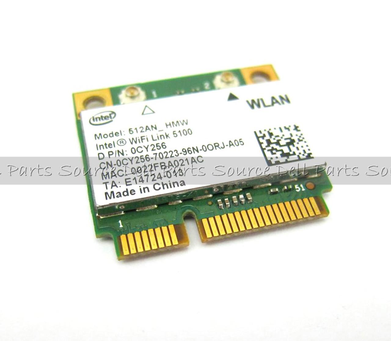 Dell Intel 5100 Draft N Wireless WiFi 802.11 a/b/g/n Half-Height Mini-PCI Express Card - CY256
