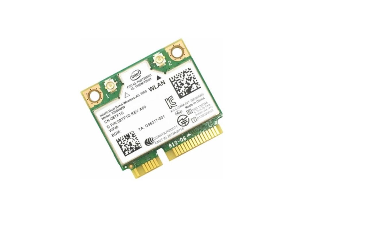 Dell Intel 7260 Vpro WLAN Wifi + Bluetooth Wireless N Card - 8TF1D