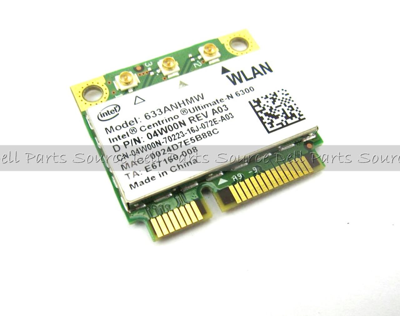 Dell Intel 6300 Draft N Wireless WiFi 802.11 a/g/n  Mini-PCI Express Half-Height Card - 4W00N