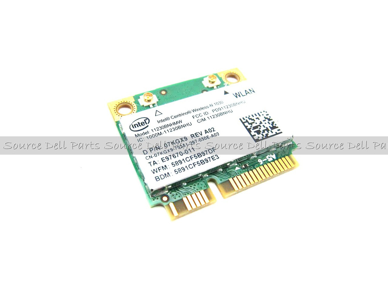 Dell Intel Centrino 1030 Wireless WiFi 802.11 b/g/n Half-Height Card Mini-PCI Express - 7KGX9